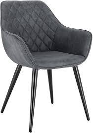 woltu esszimmerstühle mit armlehnen modell kevin grau