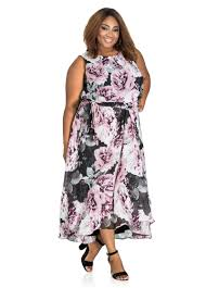 plus size maxi dress floral print hi lo floral print maxi dress