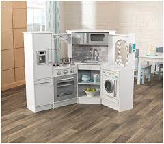 cuisine vintage blanche kidkraft amazon com kidkraft corner play kitchen set white toys
