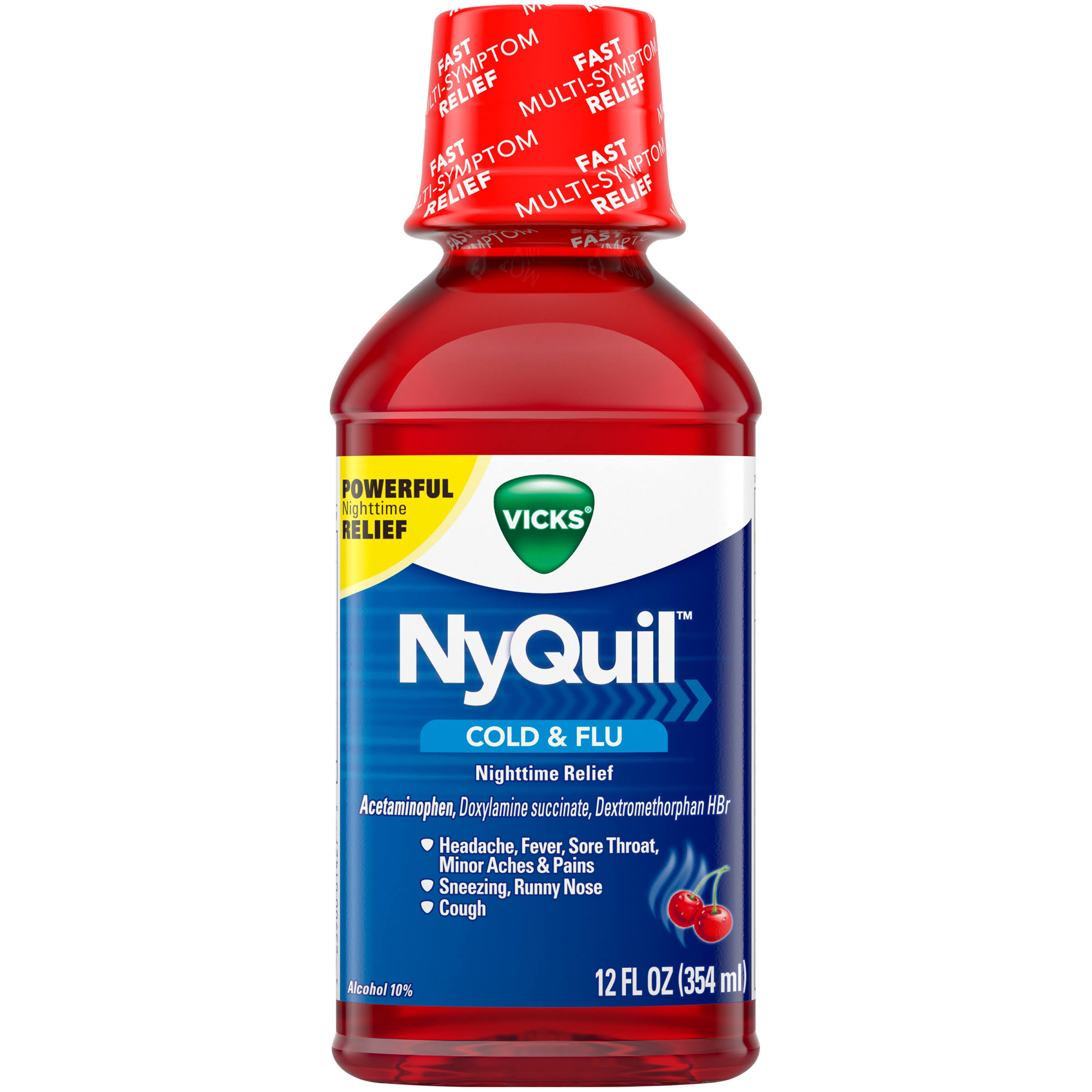 Vicks NyQuil Cold & Flu Nighttime Relief Liquid - 12 fl oz