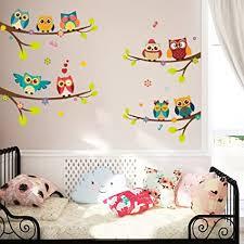 elecmotive 9 eulen weihnachtsdeko abnehmbare wandaufkleber weihnachten wandtattoo wandsticker fensterbilder diy für wohnzimmer schlafzimmer
