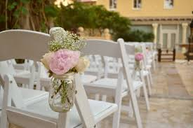 Beautiful French Rustic Country Wedding Flowers Mixed With Lovely White Roses And Pink Coral In Mason Jars Hanging On