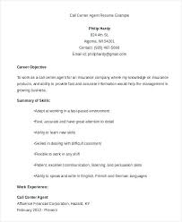 Electrical Foreman Resume Samples Fresh Call Center Objective Career For Agent Of