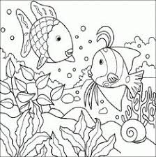 Rainbow Fish Coloring Pages Childrens Books