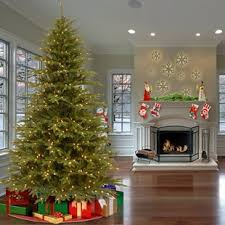 Feel Real Fraser Green Fir Trees Artificial Christmas Tree With 900 Incandescent Clear White Lights
