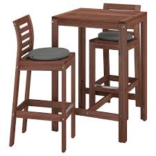 ÄPPLARÖ Bar Table And 2 Bar Stools, Outdoor - Brown Stained, Frösön ... Waiter Bar Counter Stool Upholstered Buy Massproductions Online Driade Lou Eat Ding Side Chair Drh867310 Stools Lowes Canada Height 2932 In Online At Overstock 27 March Design2014 Zio Ding Chair Chairs From Moooi Architonic Gillow In Scotland 17701830 David Jones And Jacqueline Urquhart 23 October Ch56 Ch58 Bar Stool Carl Hansen Sn Ronan Erwan Broullec Design