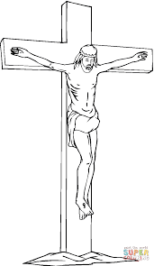 Jesus Christ On The Cross Coloring Page