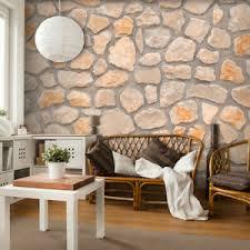 details zu vlies fototapete steinwand stein grau braun 3d tapete wandbilder wohnzimmer