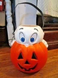 Vintage Halloween Blow Molds Craigslist by Halloween Casper Ghost Pumpkin Blow Mold Trick Treat Candy Pail