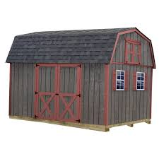 Shed Kits 84 Lumber by Best Barns Glenwood 12 Ft X 24 Ft Wood Garage Kit Without Floor