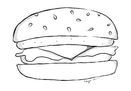 cheeseburger coloring pages