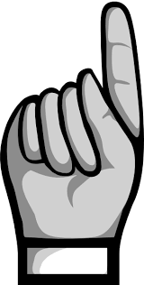Pointing finger pointer finger clipart kid 3
