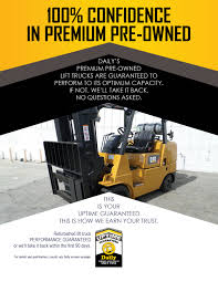 Daily Premium Pre-Owned Forklift Uptime Guaranteed - Daily Equipment ... Used 4000 Clark Propane Forklift Fork Lift Truck 500h40g Trucks Duraquip Inc 2018 Cat Gc55k In Buffalo Ny Scissor For Sale Best Image Kusaboshicom Bendi Be420 Articulated Forklift Forklifts Fork Lift Truck Hire Buy New Toyota Forklifts Chicago Il Nationwide Freight Lift Trucks And Pallet Used Lifts Boom Sweepers Material Handling Equipment Utah Action Crown
