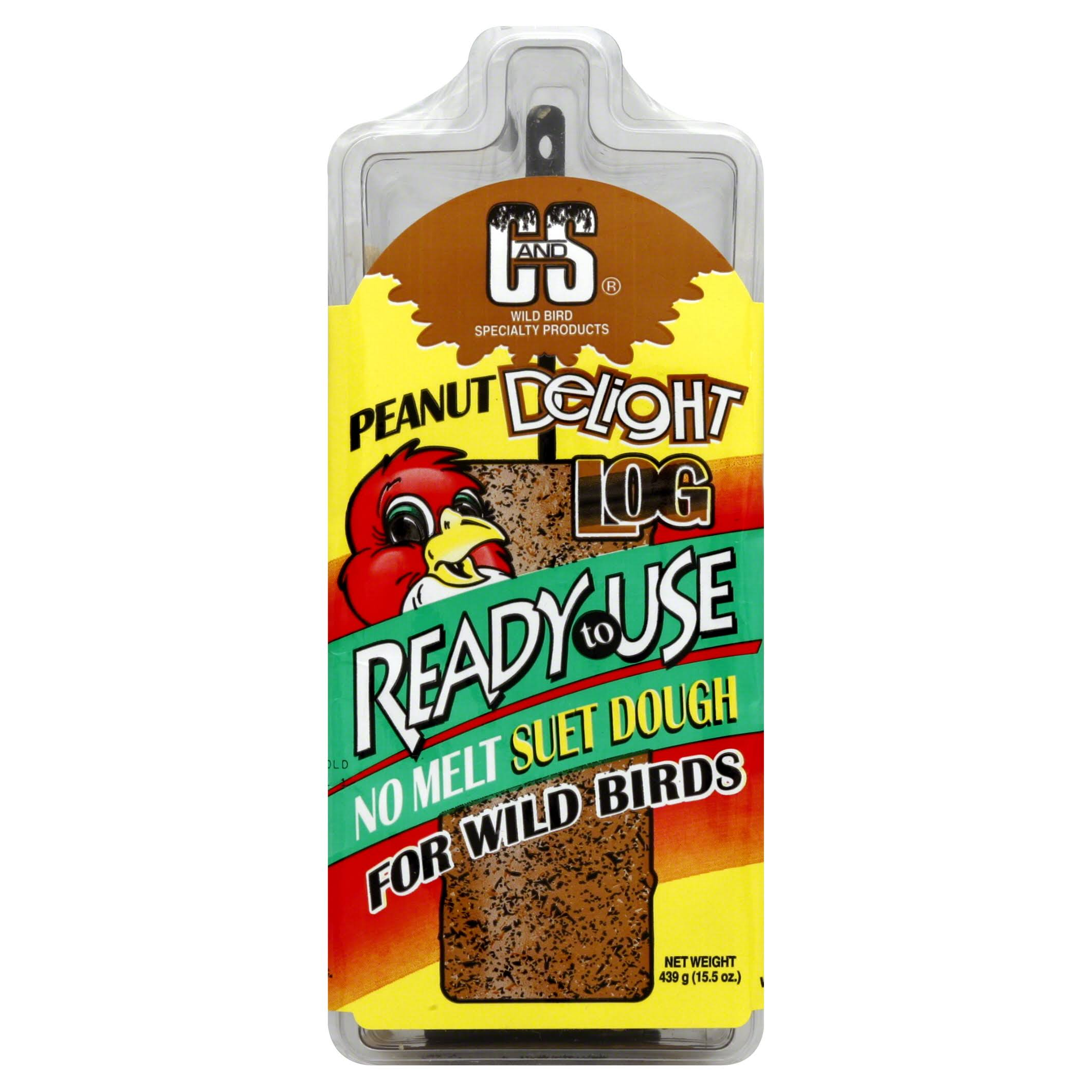 C & S Products Peanut Delight Log - 15.5oz