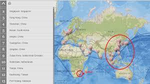 la conteneurisation du monde une carte interactive des plus