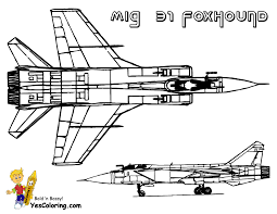 MiG 31 Foxhound Airplane Picture You Can Print At YesColoring