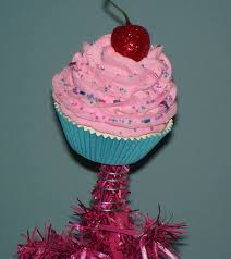 Fake Cupcake Creations Is Offering An Original Creation Christmas Tree Topper With Candyland Pink Frosting Vanilla