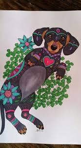 Art Of Dachshund Coloring Book Etsy Shops ArtByEddy