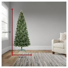 Slim Christmas Trees Prelit by 7 5ft Prelit Artificial Christmas Tree Slim Virginia Pine Clear