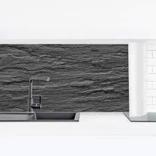 bilderwelten küchenrückwand panorama folie selbstklebend alte fliesen überkleben schiefer premium 90 x 315 cm