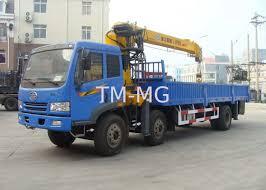 8 Ton Telescoping Boom Truck Crane, Truk Pemuatan Derek Hidrolik ...