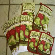 Green And Red Apple Kitchen Accessories