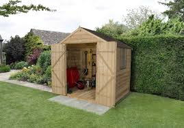6 X 5 Apex Shed by Overlap Apex Shed Pressure Treated 7x5 Double Door Forest Garden