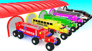Learn Colors With Monster Street Trucks For Kids | Learn Street ...