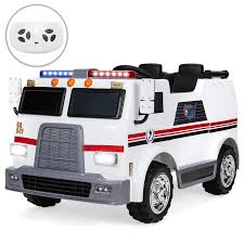 12V Kids Ambulance Truck Ride On W/ Remote Control, Siren – Best ... Jeronimo Monster Ride On Truck Details About 12v Kids On Car Rc Remote Control W Led Jual Obral Tomindo Toys Ct619 Biru Mainan Anak Amazoncom Costzon Jeep 2wd Powered Manual Fire More Onceit Best Choice Products Semi Big Shop Costway Suv Mp3 Electric Cars For Toddlers Jay Goodys Forklift With Combustion Engine Rideon Truckmounted Handling Rideon Toy Trucks Ragle Design