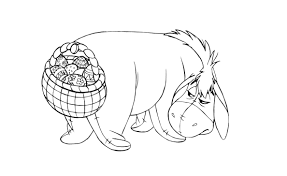 Eeyore Easter Coloring Page