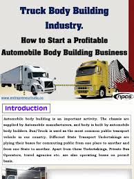 100 Truck Body Manufacturers Building Industry Equity Finance