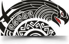 Ethnic Tribal Eagle Tattoo Design