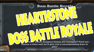 Hunter Deck Hearthstone June 2017 by Hearthstone Boss Battle Royale Tavern Brawl 2017 25 01 17