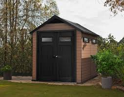 Keter 10x8 Stronghold Shed by Keter Fusion 7 5 X 9 Outdoor Wood Plastic Composite Large Storage