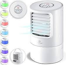 kesser 4in1 mobile klimaanlage mini klimagerät mit 7 farben led farben ventilator wassertank timer 3 stufen ionisator luftbefeuchter