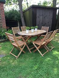 Garden Table And Chairs. Garden Furniture In Wigan For ... Plantex Space Saver Teakwood Folding Chair Table Setwooden Stakmore Traditional Expanding Fruitwood Frame Flash Fniture Hercules 8 X 40 Wood Set 6 Chairs 47 Patio And Folding Chair Foldable Solid Basil Wooden King Teak 4 Piece Golden 1 Garden Shop Homeworks Online In Wow Incredible Luan 18x72 Ft Seminar Vinyl Edging Boltthru Top Locking Steel Mannagum Pnic With Seats