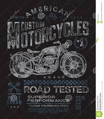 vintage motorcycle t shirt graphic royalty free stock photos