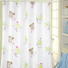 White and Pink Heart Girls Kids Shower Curtain