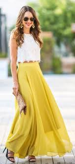 Suzannah Yellow Wedding Guest Dress White And Two Piece