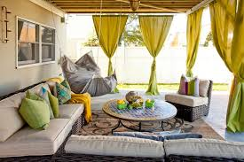 Fatboy Bean Bag Chairs Patio Eclectic With Outdoor Entertaining Green Curtains Mosaic Tile Coffee Table