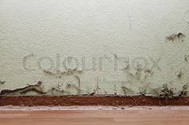 Old Dirty House Room Interior With Dust And Spider Web On Wall Floor Stock Photo