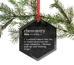 Mythbusters Christmas Tree by Funny Definition Of Chemistry Glass Christmas Tree Ornament