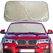 AmazonSmile: Flyday Auto Car Sun Shade Foldable Windshield - Blocks ... 12 Best Car Sunshades In 2018 And Windshield Covers For Custom Cut Sun Shade With Panted 3layer Design Sunshade 3pc Kit Bluesilver Jumbo Front 2 Side Shades Window Blinds Auto Magnetic Sun Shades Windows Are Summer And Winter Use Amazoncom Premium Shade Free Magic Towel Chamois Sizes Shop Palm Tree Tropical Island Sunset Bubble Foil Folding Accordion Block Retractable Side Styx Review Aftermarket Rear Youtube Purple Tropic For Suv Truck Disney Pixar Cars The Green Head