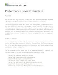 Standard Employee Review Form Template Meaning In Performance Student Evaluation