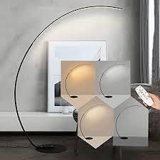 led stehleuchte bogen design stehle mit led beleuchtung mit dimmable fußschalter für wohnzimmer schlafzimmer wohnheim oder büro