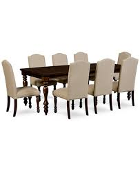 kelso 9 pc dining set dining table 8 side chairs furniture