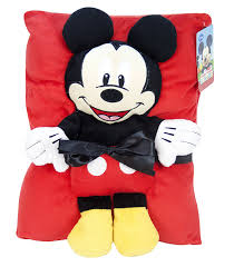 Mickey Mouse Bathroom Set Amazon by Amazon Com Disney Mickey Mouse Travel Snuggle Set Home U0026 Kitchen