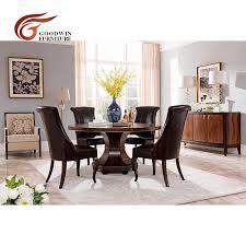 massivholz tisch set moderne luxus esstisch und echtem leder esszimmer stuhl круглый обеденный стол wa425