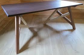 bureau bois design design bureau bois meuble design bureau sur tréteau gauche