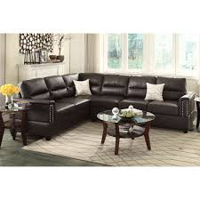 Poundex 3pc Sectional Sofa Set by Guildcraft Galaxy Bonded Leather Sectional Pieces Color